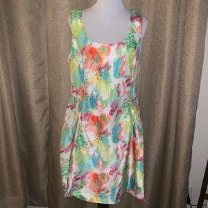EUC Watercolor Floral Dress